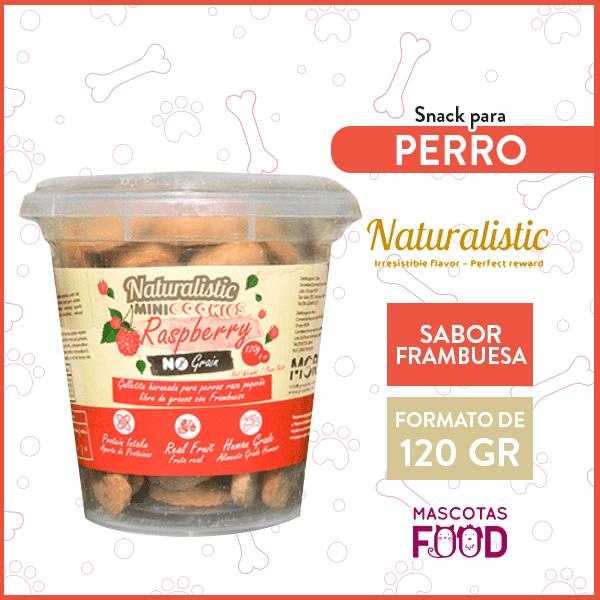 Mini Galletas para Perro raza pequeña Naturalistic sabor Frambuesa 120grs. 1
