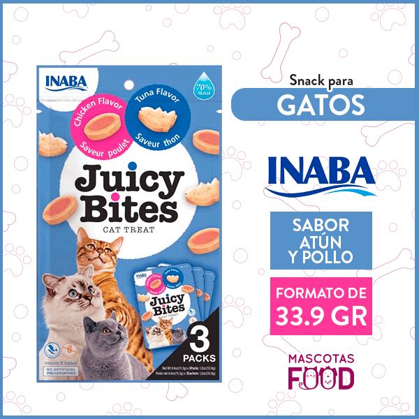Snack para Gatos INABA Juicy Bites atún y pollo 33.9 GR 1