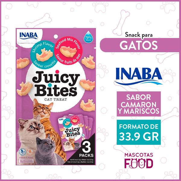 Snack para Gatos INABA Juicy Bites Camaron y Mariscos 33.9 GR 1