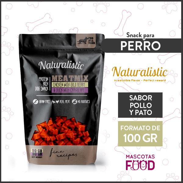 Snack para Perro Naturalistic sabor Pollo con Goji & Pato con Arándanos 100grs. 1