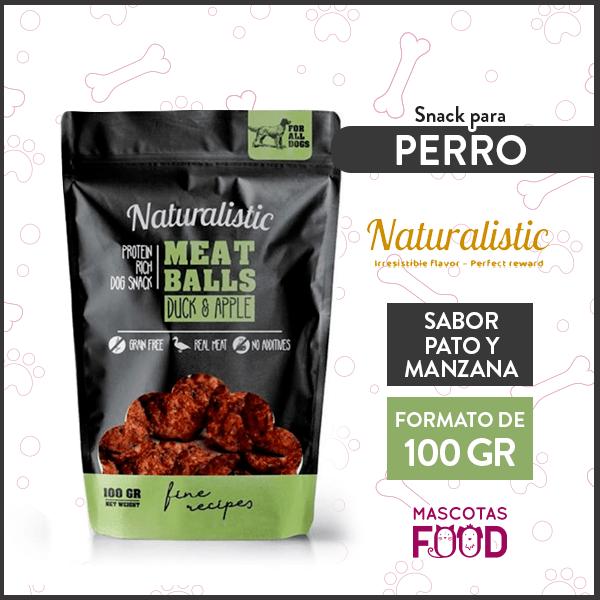 Snack para Perro Naturalistic sabor Pato y Manzana 100grs. 1