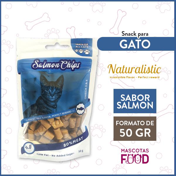 Snack para Gatos Naturalistic sabor Salmon 50grs. 1
