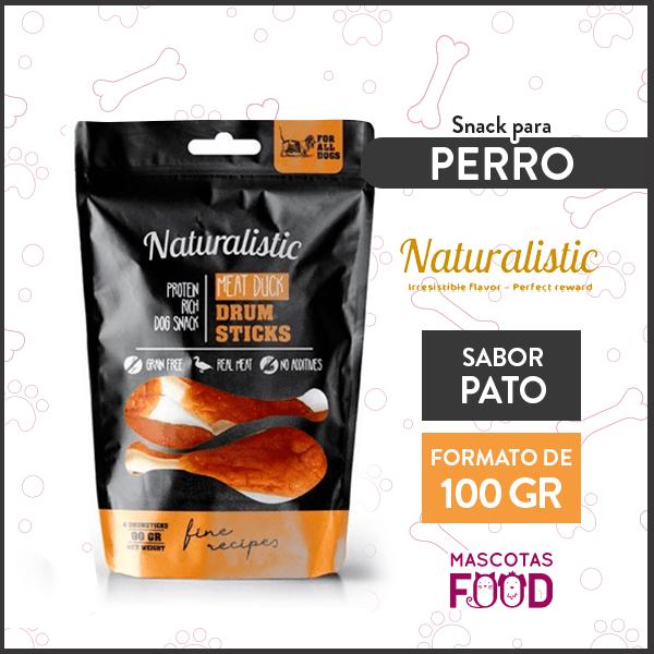 Snack para Perro Naturalistic sabor tutos de pato 100grs. 1