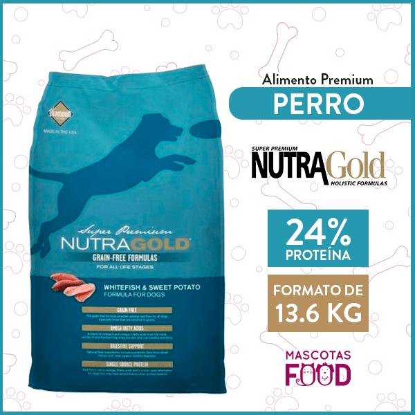 Alimento Perro Adulto Nutra Gold Libre de Granos Sabor Pescado 13.6 KG 1