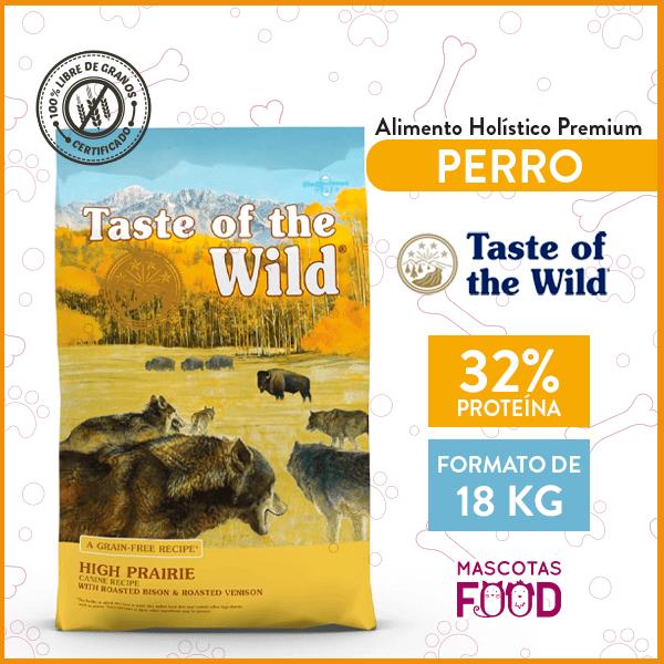 Alimento Perro Adulto Taste of the Wild High Prairie Sabor Bisonte 18 KG 1