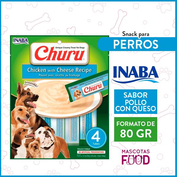Snack para Perros INABA CHURU Sabor Pollo con Queso 80GRS. 1