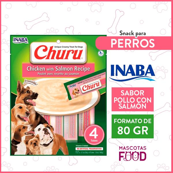 Snack para Perros INABA CHURU Sabor Pollo con Salmon 80GRS. 1