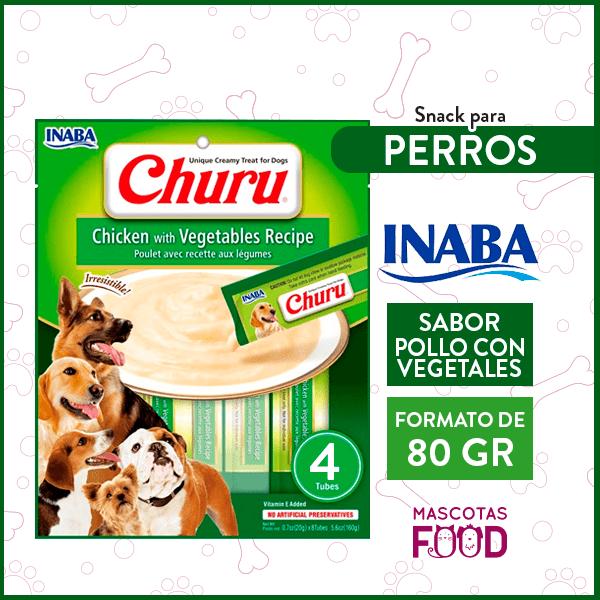 Snack para Perros INABA CHURU Sabor Pollo con Vegetales 80GRS. 1