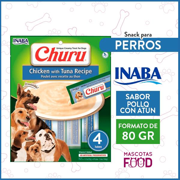 Snack para Perros INABA CHURU Sabor Pollo con Atún 80GRS. 1