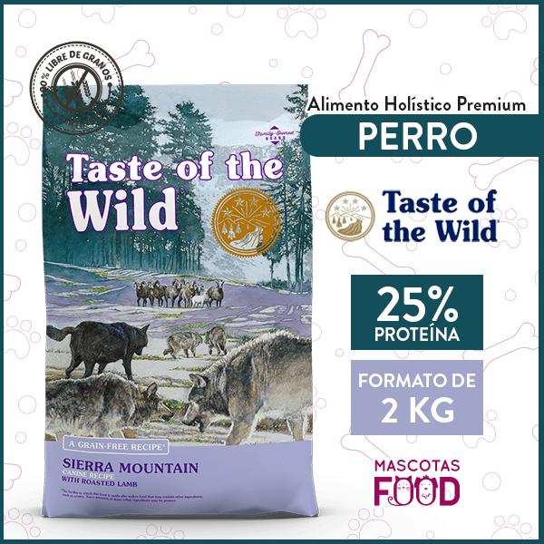 Alimento Perro Adulto Taste of the Wild Sierra Mountain Sabor Cordero 2 KG 1