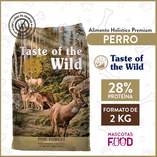 Alimento Perro Adulto Taste of the Wild Pine Forest Sabor Venado 2 KG 1