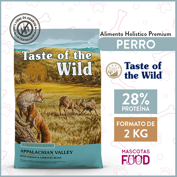 Alimento Perro Adulto Raza Pequeña Taste of the Wild Appalachian Valley Sabor Venado 2 KG 1