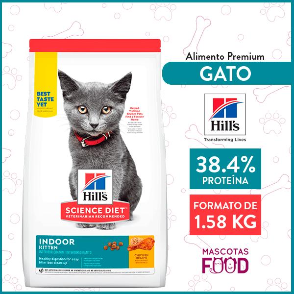 Alimento para Gatito Indoor Hill's sabor Pollo 1.58 KG 1