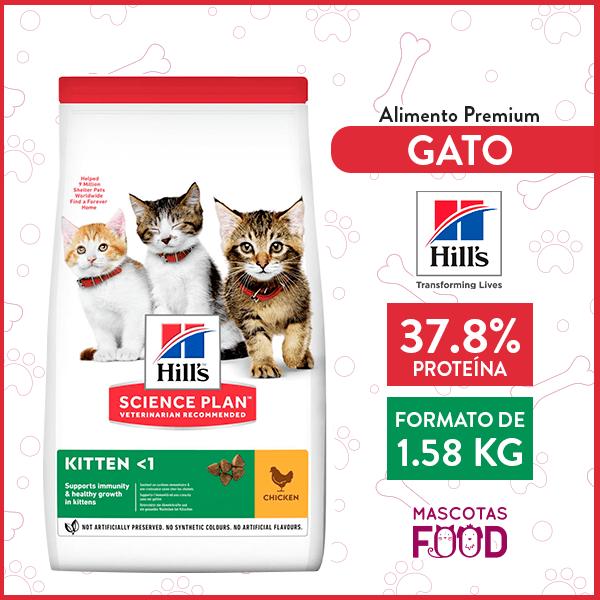 Alimento para Gatito Hill's sabor Pollo 1.58 KG 1