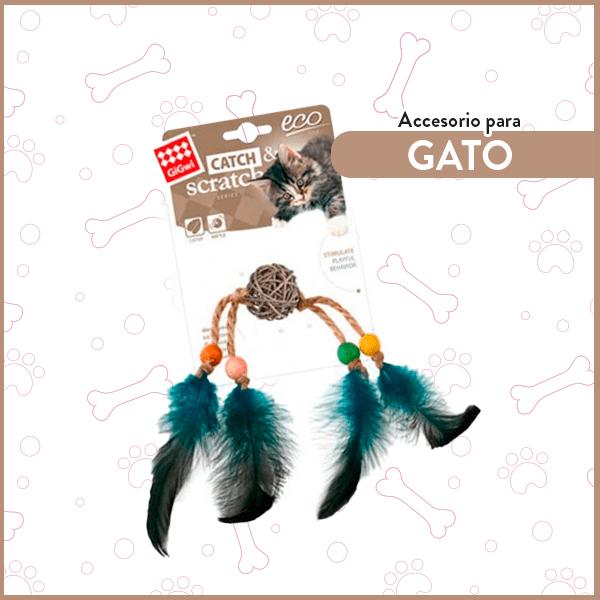 Juguete Eco Catch Scratch Rattan y plumas GiGwi para gatos GiGwi 1