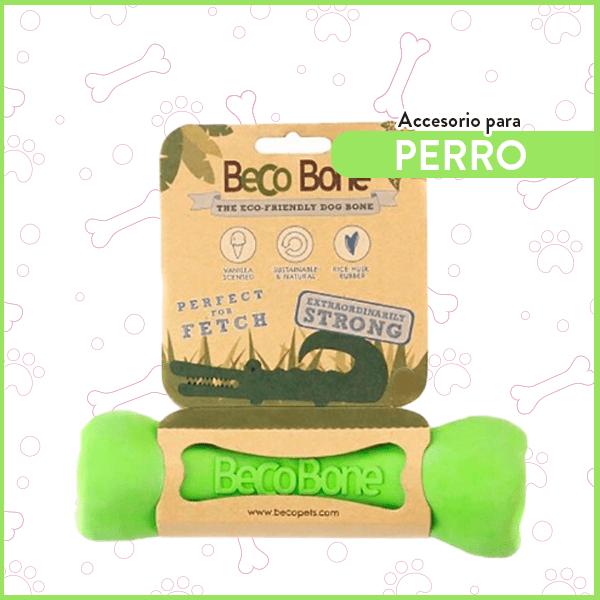 Hueso de Goma para perro ultra resistente BecoBone Mediano Verde 1