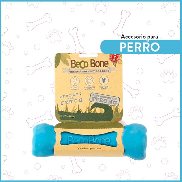 Hueso de Goma para perro ultra resistente BecoBone Pequeño Azul 1