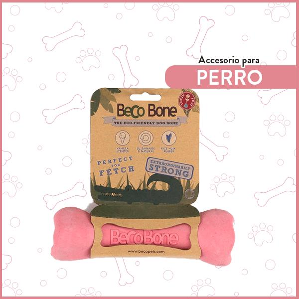 Hueso de Goma para perro ultra resistente BecoBone Pequeño Rosa 1