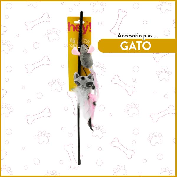 Varilla para Gatos Intercambiable Mapache Ratón Pluma Hey! 1
